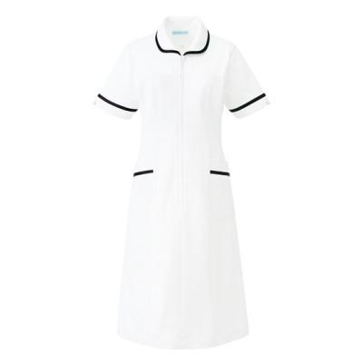 021 KAZEN ワンピース半袖 ナースウェア・白衣・介護ウェア