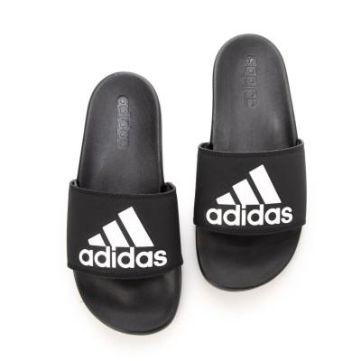 アディダス adidas  ADILETTE CF LOGO シャワーサンダル (ブラック×ホワイト)