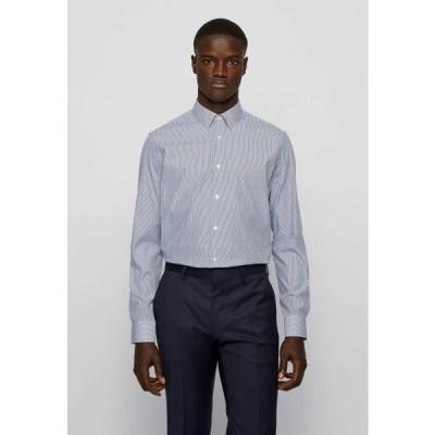 ボス メンズ ファッション Formal shirt - open blue