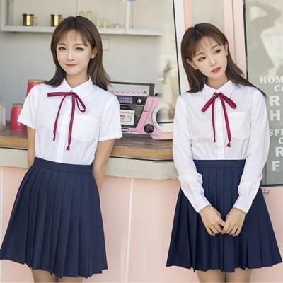 大きいサイズあり/5XLまで 春夏秋女子高生 JK制服 半袖長袖あり