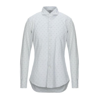 GLANSHIRT チェック柄シャツ ファッション  メンズファッション  トップス  シャツ、カジュアルシャツ  長袖 スカイブルー