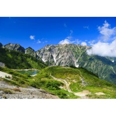 絵画風 壁紙ポスター  -地球の撮り方- 白馬三山を写す八方池の絶景と唐松岳登山 日本の絶景 C-ZJP-032A2 (A2版 594mm×420mm)