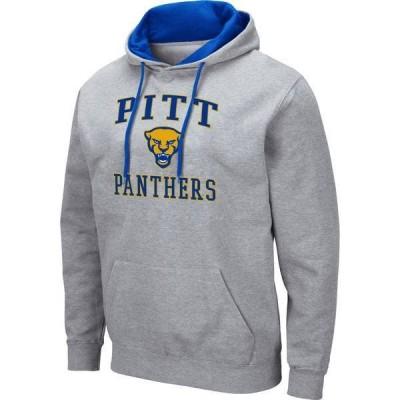 コロシアム メンズ パーカー・スウェット アウター Colosseum Men's Pitt Panthers Blue Pullover Hoodie