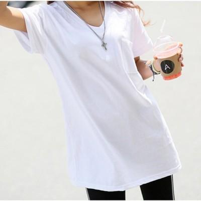 レディース 大きいサイズ 夏 ロングTシャツ 半袖Tシャツ メンズ ビッグTシャツ トップス カットソー