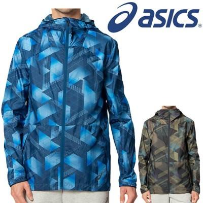 ウィンドブレーカー ランニング シェルジャケット メンズ アシックス ASICS グラフィックウーブンジャケット/スポーツウェア 男性 アウター/2011B253