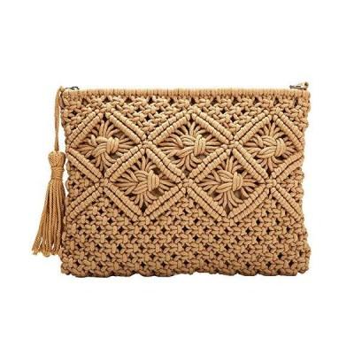 Women Straw Clutch Handbag Envelope Bag Hasp Beach Bag Woven Bag Purse Wall