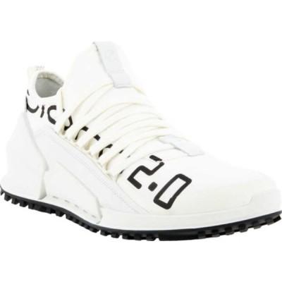 エコー スニーカー シューズ メンズ Biom 2.0 Low Textile Brand Sneaker (Men's) Bright White/White Textile/Full Grain Leather