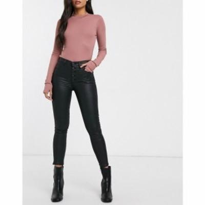アバクロンビーandフィッチ Abercrombie and Fitch レディース ジーンズ・デニム ボトムス・パンツ coated skinny jeans ブラック