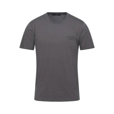 VNECK T シャツ 鉛色 S コットン 100% T シャツ