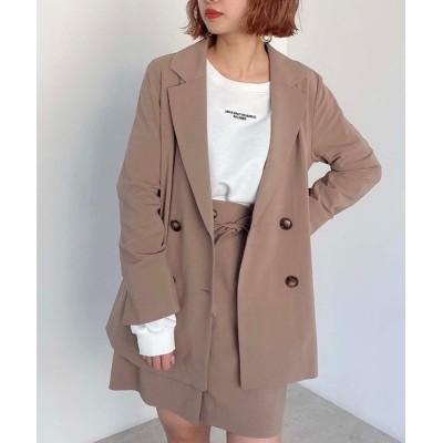 FREE'S MART / 【Sシリーズ対応】◆麻調合繊ダブルブレストジャケット WOMEN ジャケット/アウター > テーラードジャケット