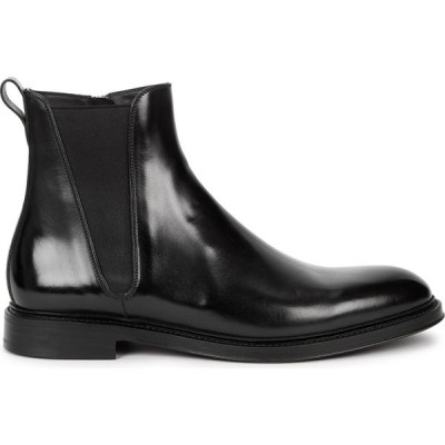 ドルチェ&ガッバーナ Dolce & Gabbana メンズ ブーツ チェルシーブーツ シューズ・靴 Black Leather Chelsea Boots Black