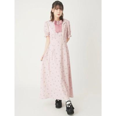 アンクルージュ Ank Rouge 花柄マキシワンピース (ピンク)
