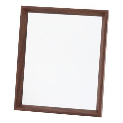 4個セット 卓上ミラー 木製 スタンドミラー 化粧鏡 コスメ ヘアメイク 鏡 メイクアップミラー おしゃれ かわいい 北欧 ブラウン