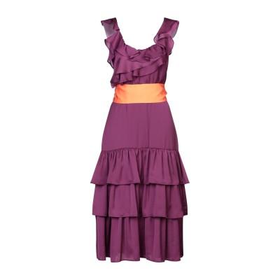 アンナリータ エンネ ANNARITA N 7分丈ワンピース・ドレス パープル 42 ポリエステル 100% 7分丈ワンピース・ドレス