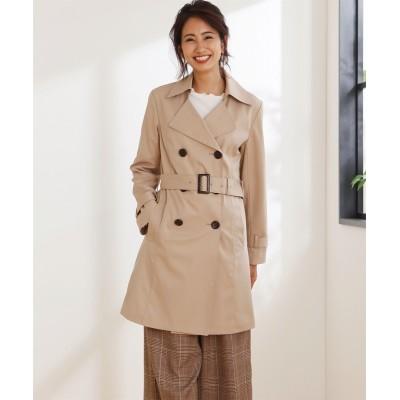 ベーシックトレンチコート(はっ水加工) (コート)(レディース)Coat