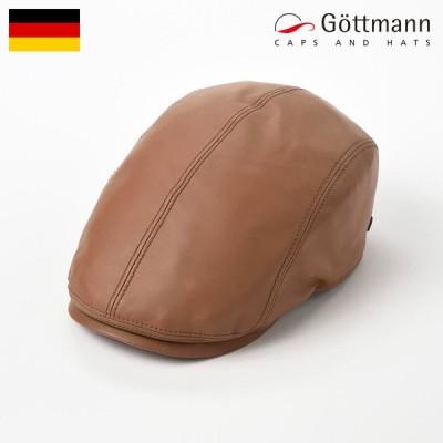 レザーハンチング帽 キャップ 帽子 メンズ 秋 冬 大きいサイズ 本革 Gottmann ジャクソン シープレザー