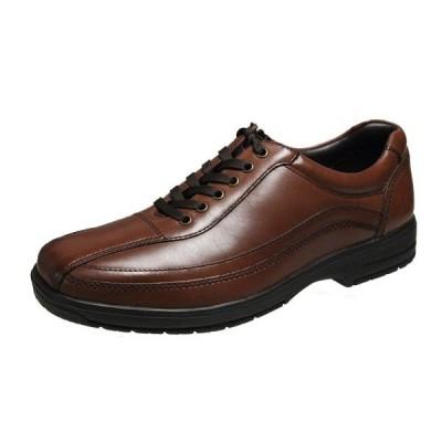 city Golf907ブラウンメンズシューズ本革撥水仕様ビジネスカジュアルシューズ紐とファスナーで履き脱ぎがラクラクなカジュアルシューズ