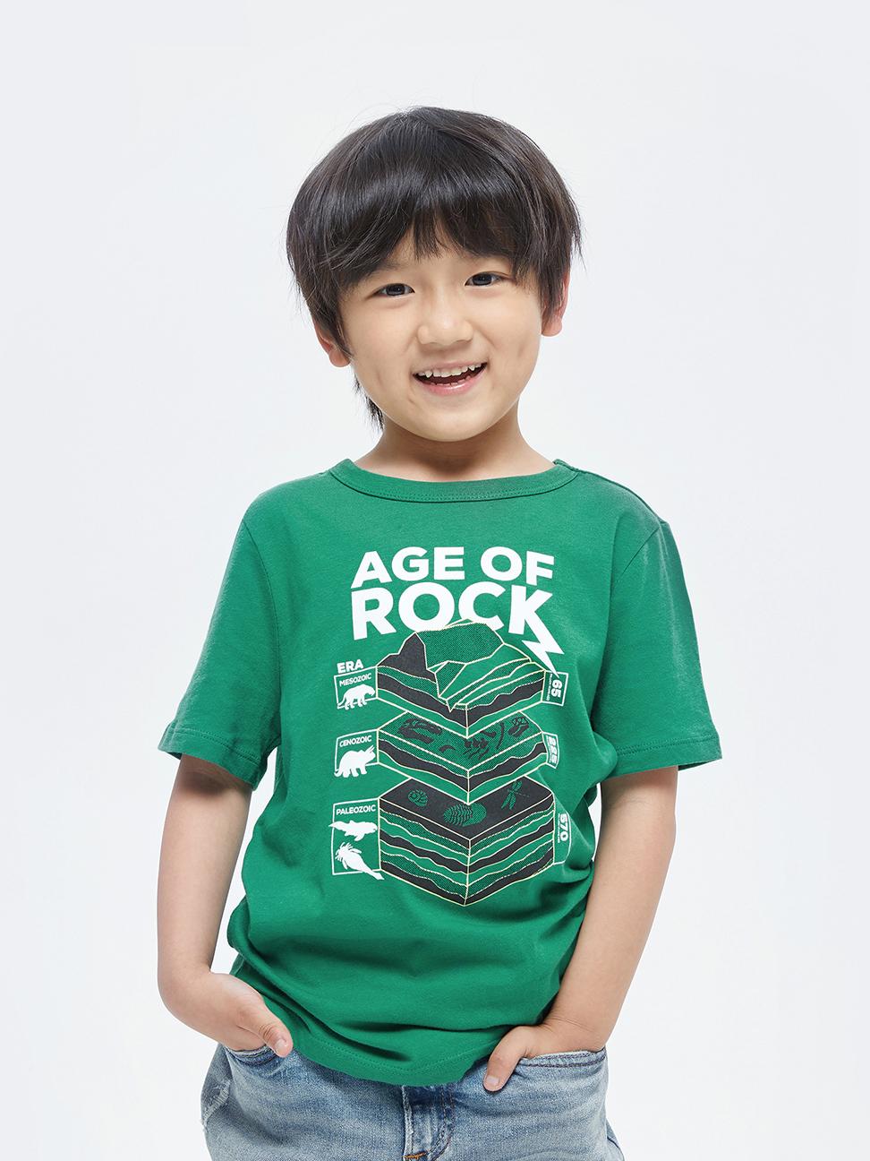 男童 純棉印花短袖T恤