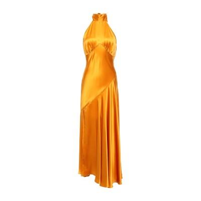 DE LA VALI ロングワンピース&ドレス オークル 8 シルク 100% ロングワンピース&ドレス
