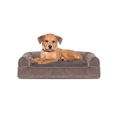 アメリカ直輸入品Furhaven Pet Dog Bed - Faux Fur and Velvet Pillow Cushion Traditional Sofa-送料込み!