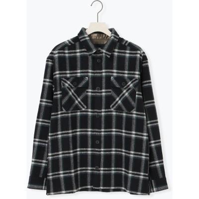 ヘリンボーンチェックビッグシャツ