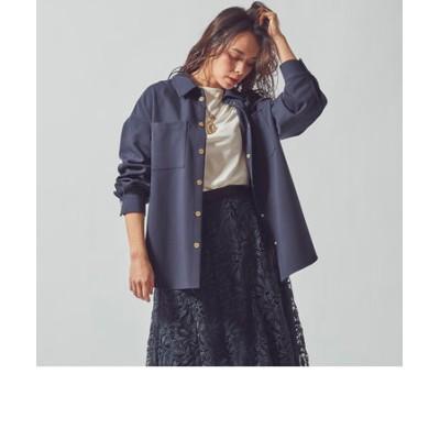 【大きいサイズ】ウエストベルト付きダブルクロスCPOジャケット