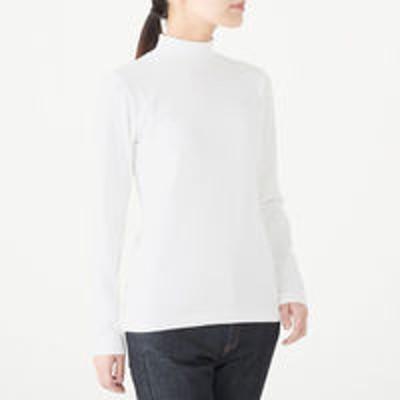 良品計画無印良品 ストレッチフライス編みハイネックTシャツ 婦人XS 白 良品計画