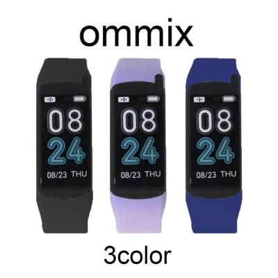 オムミックス スマートウォッチ メンズ レディース ブレスレットタイプ WW19041S 選べる3color OMMIX 腕時計 アプリ管理 多機能 クリスマス