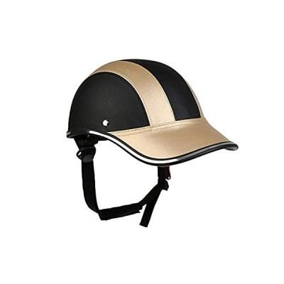 Adjustable Strap Helmet Bicycle Helmet PU Baseball Cap Style Sunshade Hat L