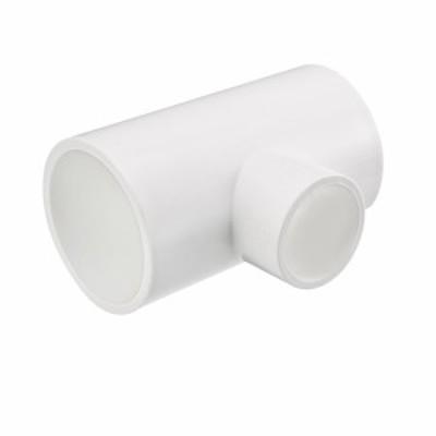 uxcell 海外出荷 パイプ 継手 40mmx40x25mm スリップ 減量 ティー PVC パイプ 継手 T型 コネクター 2個入り