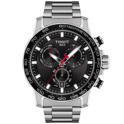 ティソット 腕時計 アクセサリー メンズ Men's Swiss Chronograph Supersport Stainless Steel Bracelet Watch 45.5mm Black