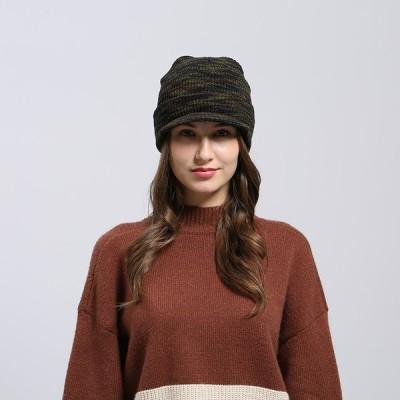 ニット帽 秋冬  ニットキャップ ツバつき メンズ レディース 暖かい 帽子 無地 ストレッチ性抜群 柔らかい  自転車 バイク 男女兼用