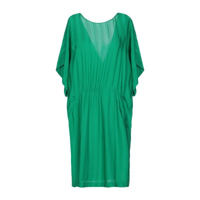 SUOLI ミニワンピース&ドレス グリーン 38 レーヨン 100% ミニワンピース&ドレス