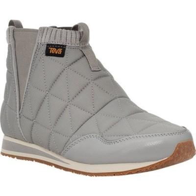 テバ レディース ブーツ&レインブーツ シューズ Ember Mid Ankle Boot Drizzle Quilted Nylon