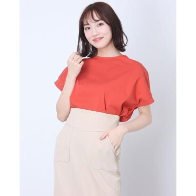 コムサイズム COMME CA ISM フレンチスリーブ  Tシャツ (オレンジ)