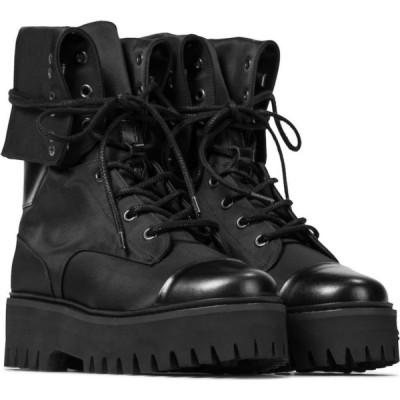 ドロシー シューマッハ Dorothee Schumacher レディース ブーツ コンバットブーツ シューズ・靴 down to earth satin combat boots Pure Black