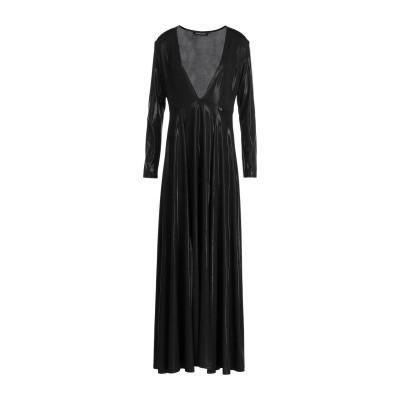 MANGANO ロングワンピース&ドレス ブラック S ポリエステル 95% / ポリウレタン 5% ロングワンピース&ドレス
