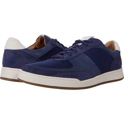 クラークス Bizby Lace メンズ スニーカー 靴 シューズ Dark Blue Suede Combi