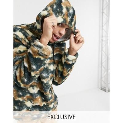 リクレイム ヴィンテージ メンズ パーカー・スウェット アウター Reclaimed Vintage Inspired hoodie in fleece