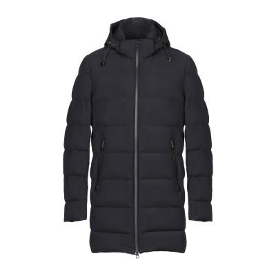 MONTECORE ダウンジャケット ブラック 54 ナイロン 68% / ポリウレタン 32% / 羊革(ラムスキン) ダウンジャケット
