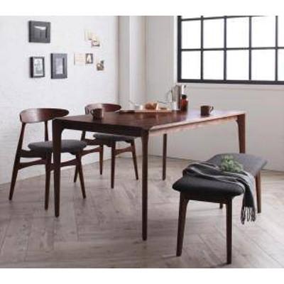 ダイニングテーブルセット 4人用 椅子 ベンチ おしゃれ 安い 北欧 食卓 4点 ( 机+チェア2+長椅子1 ) 幅150 デザイナーズ クール スタイリ