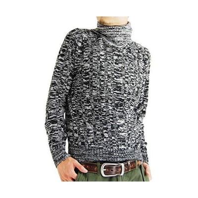 (アーケード) ARCADE タートルネック メンズ ケーブル編みニット セーター ニット ハイネックタートル メンズ 秋 冬 LL ブラッ