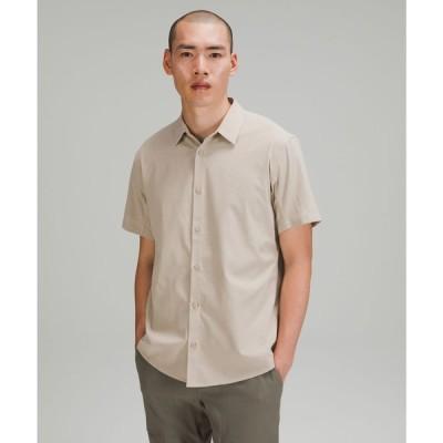 ルルレモン lululemon メンズ 半袖シャツ トップス Airing Easy Short Sleeve Shirt Heathered Raw Linen