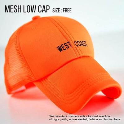 メッシュキャップ  ローキャップ メンズ レディース 帽子 キャップ メンズ レディース シンプル 830-17 8-3 オレンジ