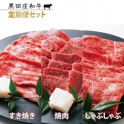 【冷蔵・年3回配送】特選 黒田庄和牛モモ・ウデ肉定期便セット(計2,700g)