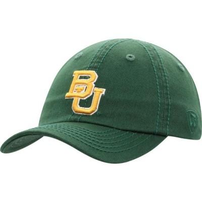 トップオブザワールド Top of the World メンズ キャップ 帽子 Baylor Bears Green Crew Washed Cotton Adjustable Hat