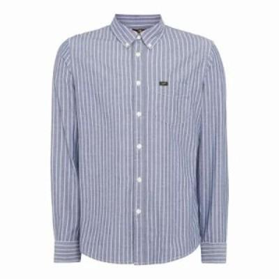 リー シャツ Button Down Shirt blue