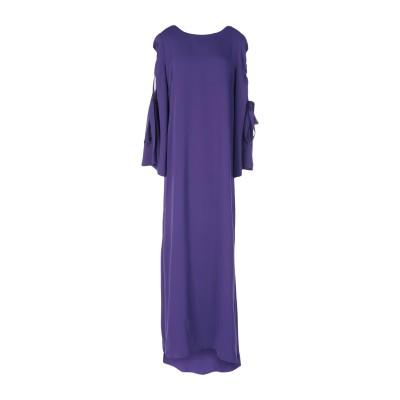 パロッシュ P.A.R.O.S.H. ロングワンピース&ドレス パープル L ポリエステル 100% ロングワンピース&ドレス