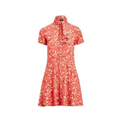 POLO RALPH LAUREN ミニワンピース&ドレス ピンク 4 レーヨン 100% ミニワンピース&ドレス