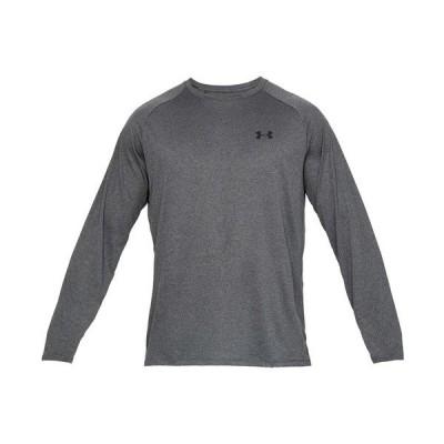 アンダーアーマー Tシャツ トップス メンズ Men's Tech Long Sleeve T-shirt Carbon Heather